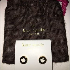 Kate Spade ♠️ Ace Earrings Gold/White